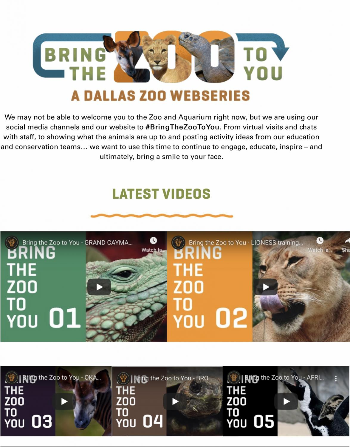 Screenshot of https://www.dallaszoo.com/bringthezootoyou/